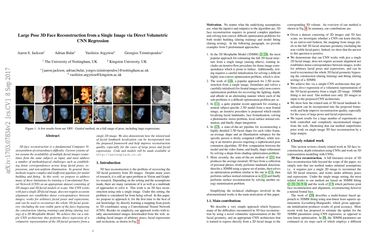 Papers With Code : Large Pose 3D Face Reconstruction from a