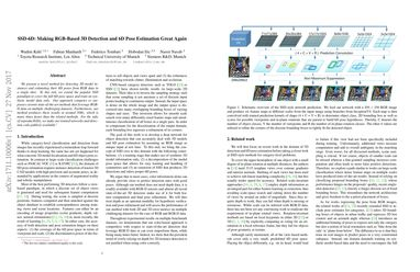 Papers With Code : SSD-6D: Making RGB-based 3D detection and