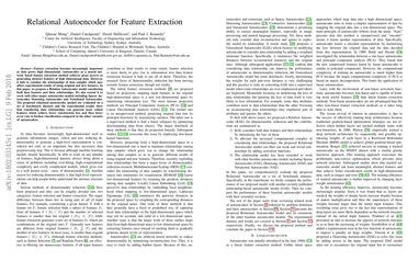 Papers With Code : Relational Autoencoder for Feature Extraction