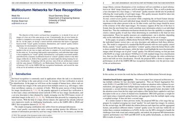Papers With Code : Multicolumn Networks for Face Recognition