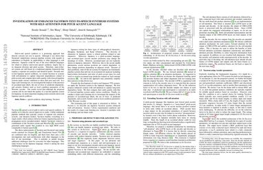 Papers With Code : Investigation of enhanced Tacotron text-to-speech