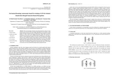 Papers With Code : On Stacked Denoising Autoencoder based