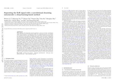 Papers With Code : Separating the EoR Signal with a