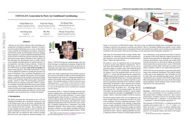 Papers With Code : COCO-GAN: Generation by Parts via