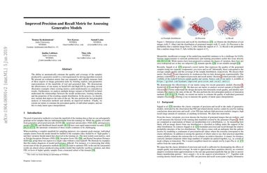 Papers With Code : Improved Precision and Recall Metric for