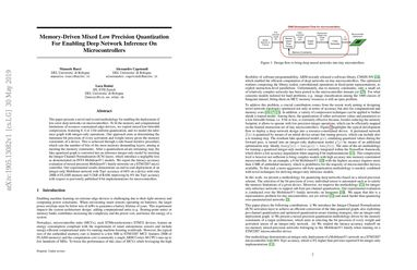 Papers With Code : Memory-Driven Mixed Low Precision Quantization