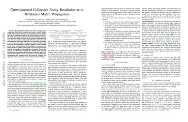 Crowdsourced Collective Entity Resolution with Relational Match Propagation