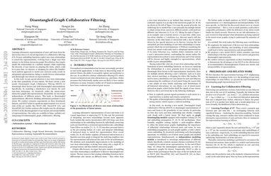 Disentangled Graph Collaborative Filtering