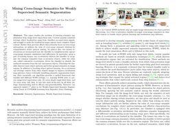 Mining Cross-Image Semantics for Weakly Supervised Semantic Segmentation