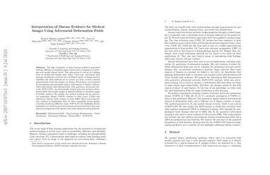 Interpretation of Disease Evidence for Medical Images Using Adversarial Deformation Fields