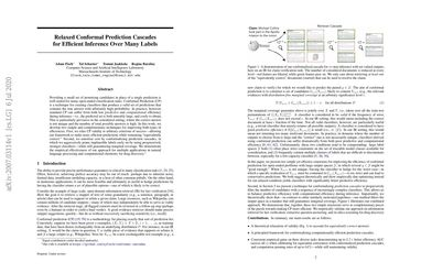 Relaxed Conformal Prediction Cascades for Efficient Inference Over Many Labels