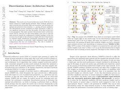 Discretization-Aware Architecture Search