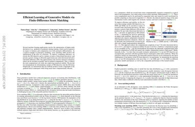Efficient Learning of Generative Models via Finite-Difference Score Matching