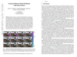 Long-term Human Motion Prediction with Scene Context