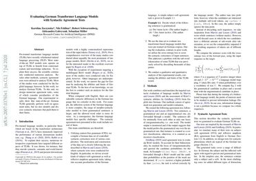 Evaluating German Transformer Language Models with Syntactic Agreement Tests