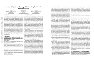 Generalizing Tensor Decomposition for N-ary Relational Knowledge Bases