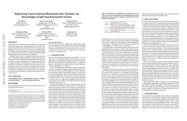 Improving Conversational Recommender Systems via Knowledge Graph based Semantic Fusion