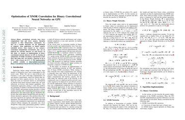 Optimization of XNOR Convolution for Binary Convolutional Neural Networks on GPU