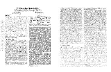 Declarative Experimentation in Information Retrieval using PyTerrier