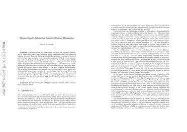 Fibonacci and k-Subsecting Recursive Feature Elimination