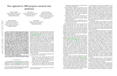New approach to MPI program execution time prediction