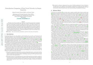 Generalization Comparison of Deep Neural Networks via Output Sensitivity