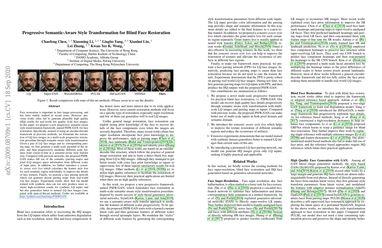 Progressive Semantic-Aware Style Transformation for Blind Face Restoration