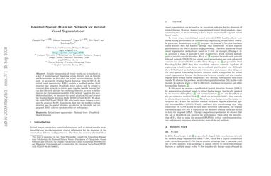 Residual Spatial Attention Network for Retinal Vessel Segmentation