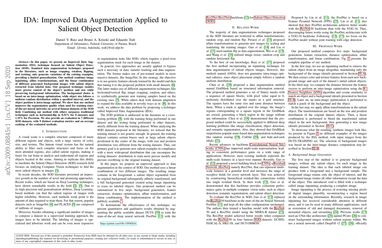 IDA: Improved Data Augmentation Applied to Salient Object Detection
