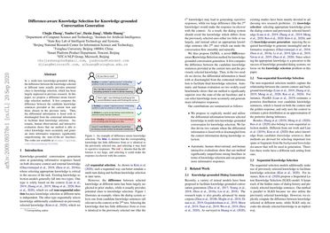 Difference-aware Knowledge Selection for Knowledge-grounded Conversation Generation