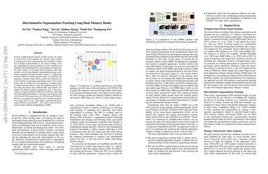 Discriminative Segmentation Tracking Using Dual Memory Banks