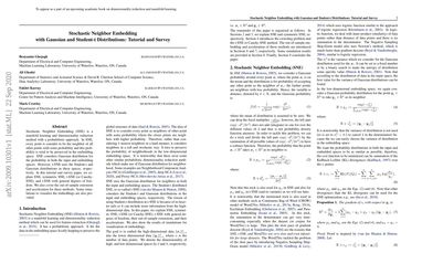 Stochastic Neighbor Embedding with Gaussian and Student-t Distributions: Tutorial and Survey