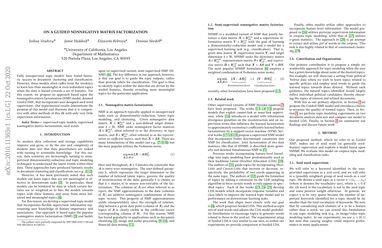 On a Guided Nonnegative Matrix Factorization