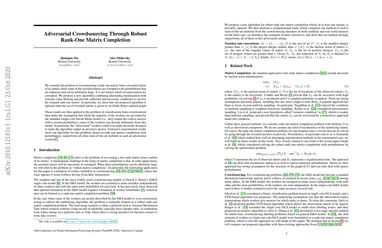 Adversarial Crowdsourcing Through Robust Rank-One Matrix Completion