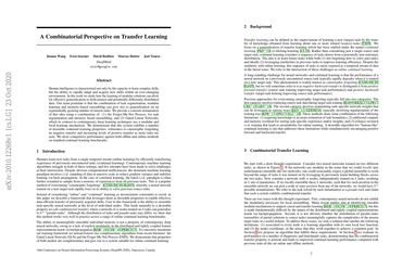 A Combinatorial Perspective on Transfer Learning