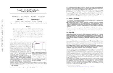 Adaptive Gradient Quantization for Data-Parallel SGD