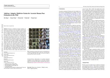 AdaFuse: Adaptive Multiview Fusion for Accurate Human Pose Estimation in the Wild