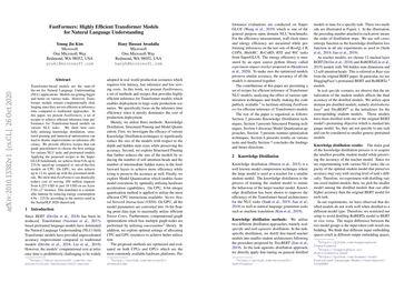 FastFormers: Highly Efficient Transformer Models for Natural Language Understanding
