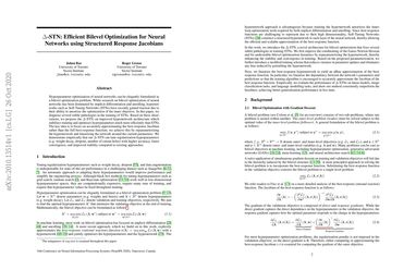 Delta-STN: Efficient Bilevel Optimization for Neural Networks using Structured Response Jacobians