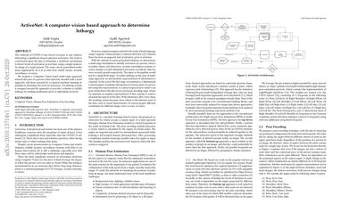 ActiveNet: A computer-vision based approach to determine lethargy