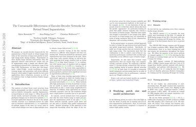 The Unreasonable Effectiveness of Encoder-Decoder Networks for Retinal Vessel Segmentation