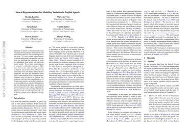 Neural Representations for Modeling Variation in English Speech