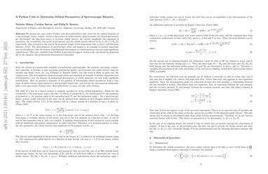 A Python Code to Determine Orbital Parameters of Spectroscopic Binaries