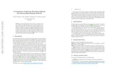 A Comparison of Question Rewriting Methods for Conversational Passage Retrieval