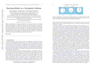 Bursting Bubble in a Viscoplastic Medium