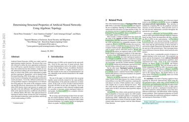 Determining Structural Properties of Artificial Neural Networks Using Algebraic Topology