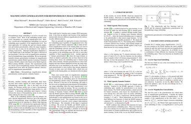 Magnification Generalization for Histopathology Image Embedding
