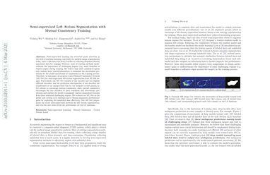 Semi-supervised Left Atrium Segmentation with Mutual Consistency Training