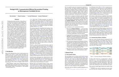 Moshpit SGD: Communication-Efficient Decentralized Training on Heterogeneous Unreliable Devices
