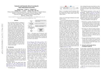 Syntactic and Semantic-driven Learning for Open Information Extraction